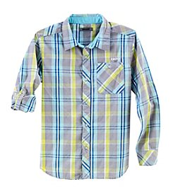DKNY® Boys' 2T-20 Long Sleeve Woven Plaid Shirt