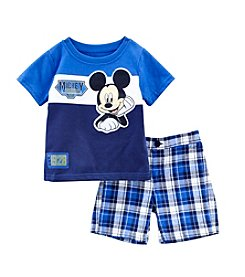 Nannette® Baby Boys' 3-24 Month Mickey Mouse Outfit Set