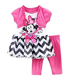 Nannette® Baby Girls' Minnie Chevron Top And Leggings Set