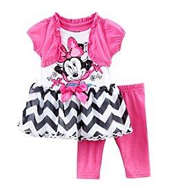 Nannette® Baby Girls' Minnie Chevron Top And Leggings Set
