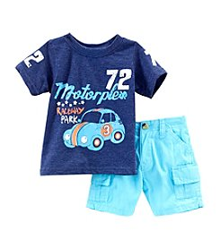 Nannette® Baby Boys' Motoplex Shorts Set