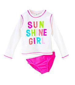 Carter's® Girls' 4-6X Sunshine Rash Guard Top With Bottom Set