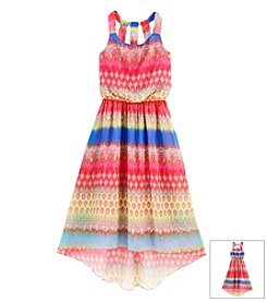 Speechless® Girls' 7-16 Printed Chiffon Hi Low Maxi Dress