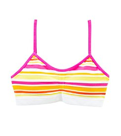 Maidenform Girls' Seamless Striped Crop Bra