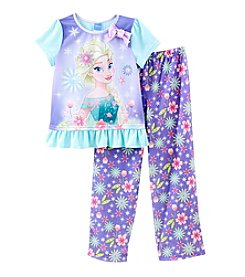 Disney® Girls' 4-10 2-Piece Elsa Pajama Set