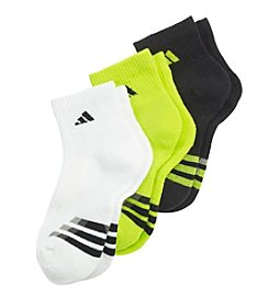 adidas® Boys' 3-Pack Quarter Socks
