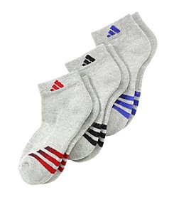 adidas® Boys' 3-Pack Low Cut Socks