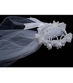 Bonnie Jean® Girls' Glitter Beaded Tiara Veil