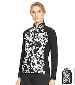 Lauren Active® Petites' Floral-Print Track Jacket