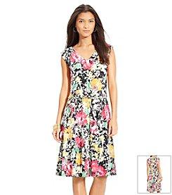 Lauren Ralph Lauren® Petites' Floral-Print Jersey Dress
