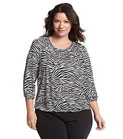MICHAEL Michael Kors® Plus Size Zebra Peasant Top