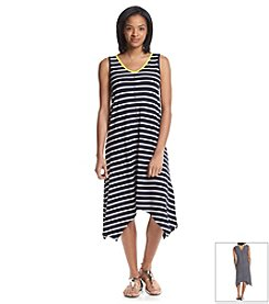 Jones New York Sport® Petites' Stripe V-Neck Dress