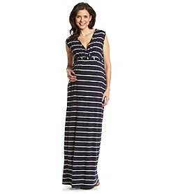 Three Seasons Maternity™ Sleeveless V-Neck Stripe Maxi Dress