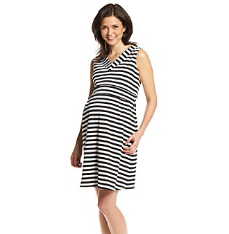 Three Seasons Maternity™ Sleeveless V-Neck Striped Dress plus size,  plus size fashion plus size appare