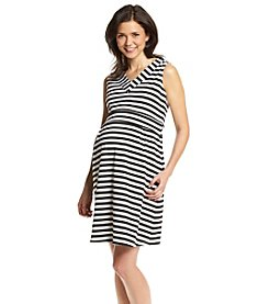 Three Seasons Maternity™ Sleeveless V-Neck Striped Dress