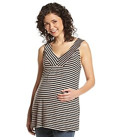 Three Seasons Maternity™ V-Neck Stripe Knit Tank