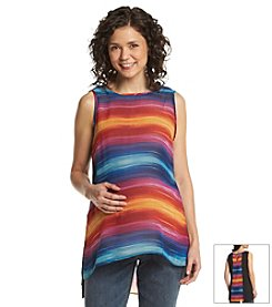 Three Seasons Maternity™ Stripe & Solid Chiffon Tank