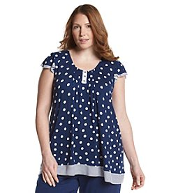 Ellen Tracy® Plus Size Navy Dot Sleep Tee