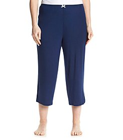 Ellen Tracy® Plus Size Solid Sleep Capris