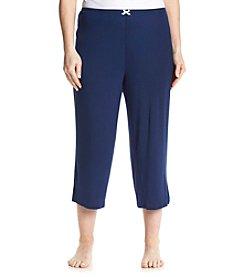 Ellen Tracy® Plus Size Solid Sleep Capris