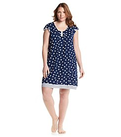 Ellen Tracy® Plus Size Navy Dot Chemise