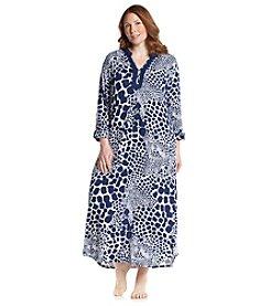 Ellen Tracy® Plus Size Giraffe Rayon Caftan
