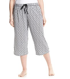 KN Karen Neuburger Plus Size Owl Sleep Capris