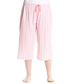KN Karen Neuburger Plus Size Plus Size Stripe Sleep Capris