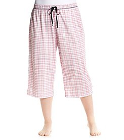 KN Karen Neuburger Plus Size Plaid Sleep Capris