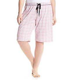 KN Karen Neuburger Plus Size Plaid Sleep Bermudas