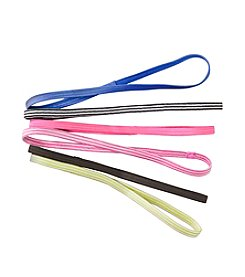 Exertek® 6 Pack Assorted Active Hairbands - Neon