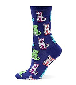 Hot Sox Cats Crew Socks