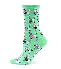 Hot Sox® Poodles Crew Socks