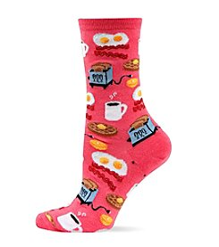 Hot Sox Breakfast Crew Socks
