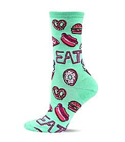 Hot Sox Diner Food Crew Socks