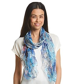 Basha Tropical Floral And Animal Oblong Scarf
