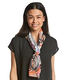 Basha Abstract Geometric Sheer Oblong Scarf