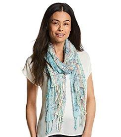 Basha Nubby Oversized Texture Stripe Oblong Scarf