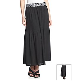 NY Collection Pleated Skirt