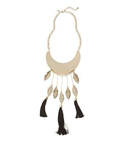 Natasha Goldtone Leaf Necklace