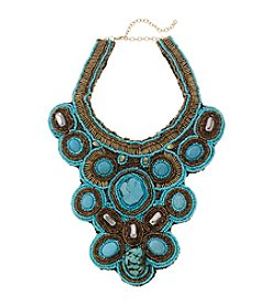 Natasha Turquoise and Broze Beaded Stone 15