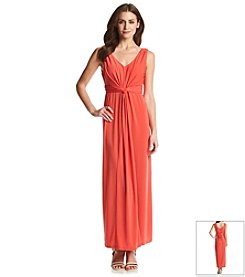 Notations® Solid Knot Maxi Dress