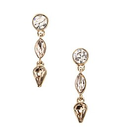 Givenchy® Goldtone Triple Drop Earrings