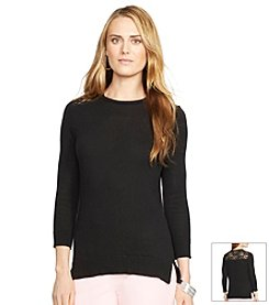 Lauren Ralph Lauren® Crewneck Lace Sweater
