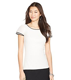Lauren Ralph Lauren Cotton Ballet-Neck Top