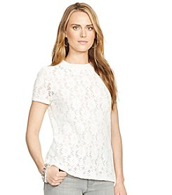 Lauren Ralph Lauren® Floral-Lace Crewneck Top