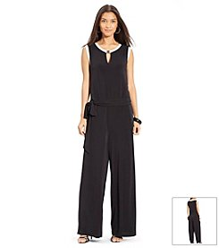 Lauren Ralph Lauren® Wide-Leg Belted Jumpsuit