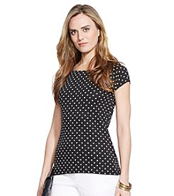 Lauren Ralph Lauren® Polka-Dot Ballet-Neck Shirt