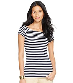 Lauren Ralph Lauren® Striped Ballet-Neck Shirt