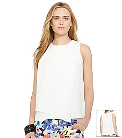 Lauren Ralph Lauren® Shirred-Overlay Tank